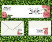 INSTANT DOWNLOAD Peonies Editable PDF Mailing Label