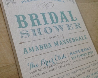 DIY Printable Bridal Shower Invitation // Simple and Elegant Invite // Purchase this Listing to Get Started