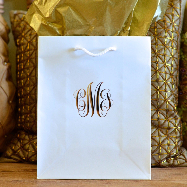 Script Monogram Hotel Wedding Welcome Gift Bags Set Of 35