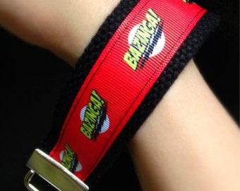 Big Bang Theory Key Fob Bazinga Keychain Wristlet