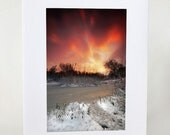 Unique Christmas Card UK, Fire and Ice, Swindon Wiltshire, Holiday Card Handmade Greeting Card