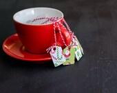 Secret Santa Gift - Candy Canes & Santa Tea Bags - Mixed (6)