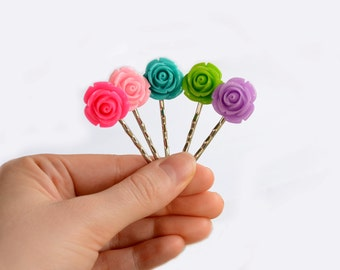 Rose Bobby Pin - Flower Hair Pin