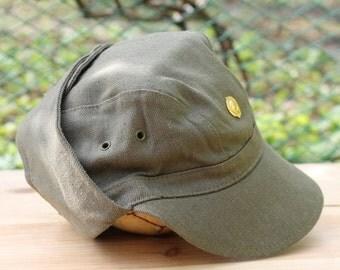 Vintage Soviet Army soldier's forage-cap Military Hat Cap ... soldier's peaked cap