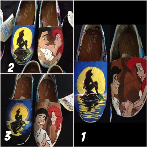 Hand Painted Little Mermaid TOMS