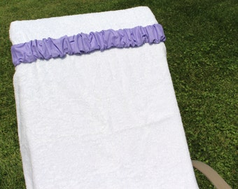 Lavender Towel Cinch. Girls. Teenagers. Moms. Brides. Bridesmaids. Welcome bags. Destination wedding favors. Cruise accessory. Weekend trip.