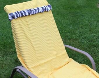 Gray Chevron Towel Cinch. Lido Deck. Cruises. Resorts. For Men and Women. Chair Holder. Christmas Break. Stocking Stuffer. Travel accessory,