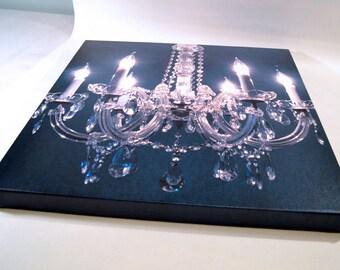 Chandelier Canvas Print.  Gallery wrap edge.