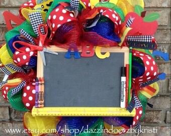 ABC Teacher Chalkboard Wreath