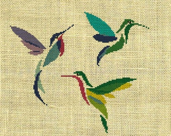 Bird/Hummingbird/animal Counted Cross Stitch Pattern