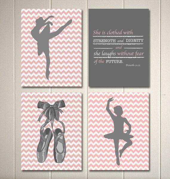 Nursery Ideas And Décor To Inspire You: Baby Girl Nursery Art Ballerina Nursery Inspirational