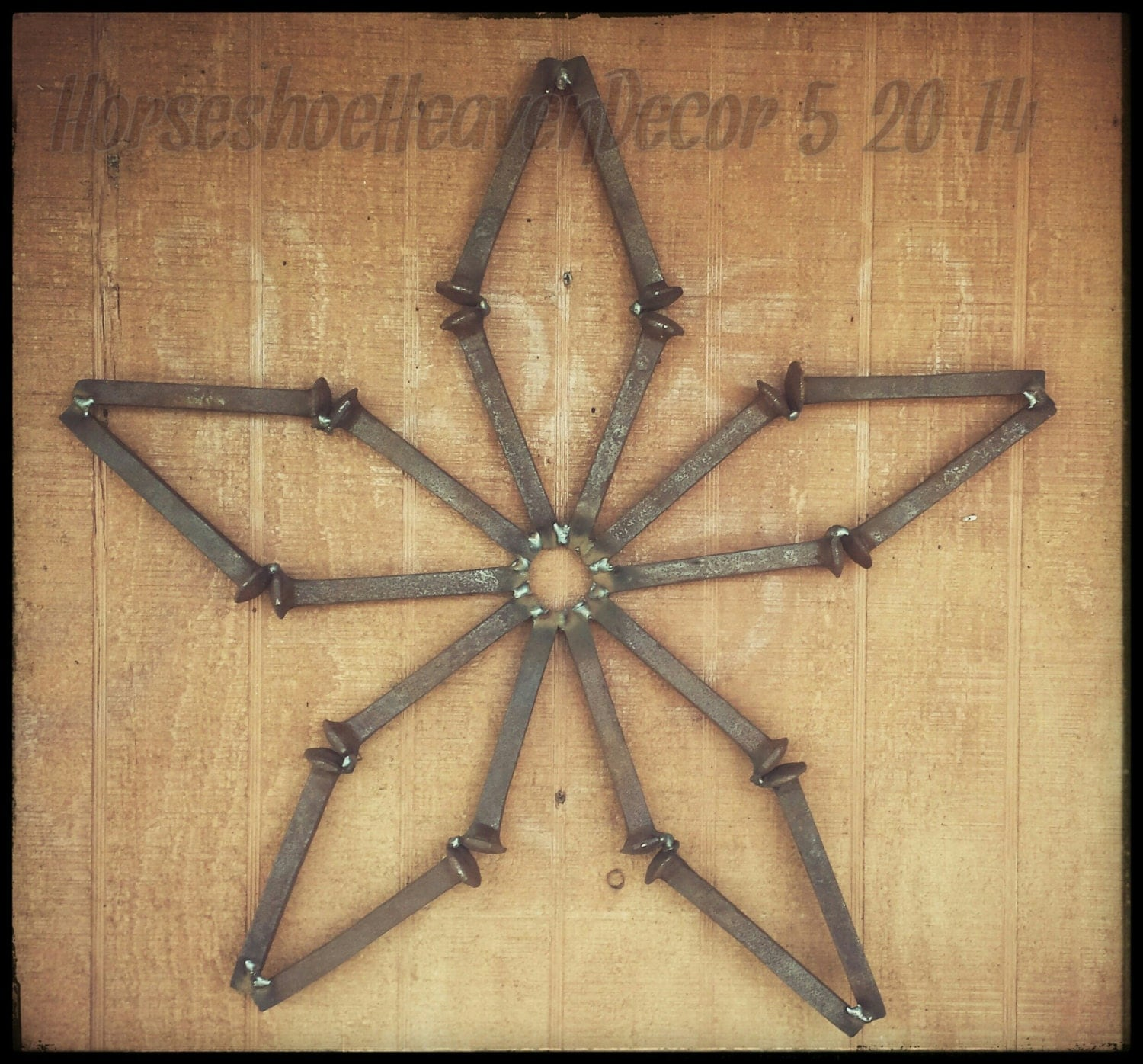 Rail road spike star country rustic wedding by for Craft welding ideas