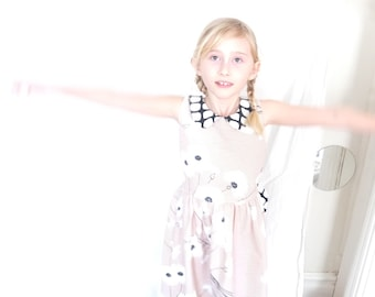 Una dress from upcycled fabric for girls