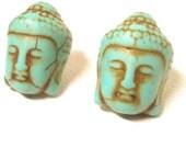 SALE ~ Buddha Symbol Post Earrings ~BESTSELLER~ Howlite 1.9 Centimeter, Boho Stud Earrings