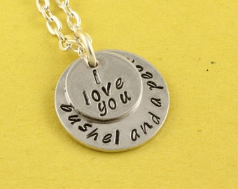 I Love You a Bushel and a Peck Necklace - Silver Necklace - Personalized Necklace - Custom Necklace - Customizable Necklace - Gift for Her