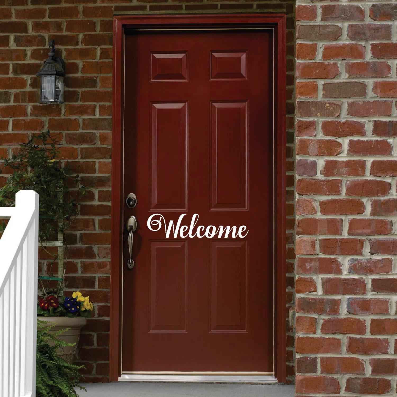 WELCOME FRONT DOOR Vinyl Decals Stickers Home By Klwgraphics