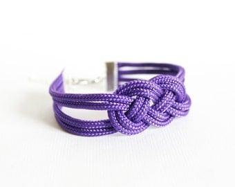 Purple Knot Bracelet, Knot Bracelet, Rope Bracelet, Sailor Knot Bracelet, Love Knot, Knotted Bracelet, Nautical bracelet, Nautical Knot