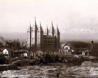 Early Salt Lake Temple Photo - Archival Print