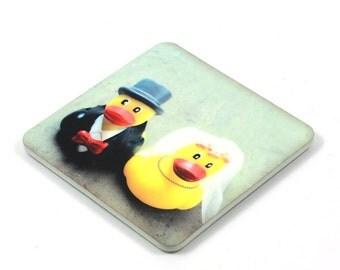 Fridge Magnet, Plastic Ducks Magnet, Photo Magnet, Plastic, Square, Handmade