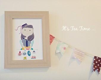 Print -Tea Time-