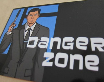 Archer - Danger Zone Postcard