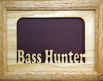 Bass Hunter Fishing Picture Frame 5x7