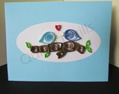 Quilled Love Birds Greeting Card