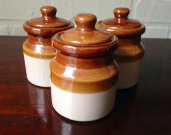 Set of Three Ceramic Pots