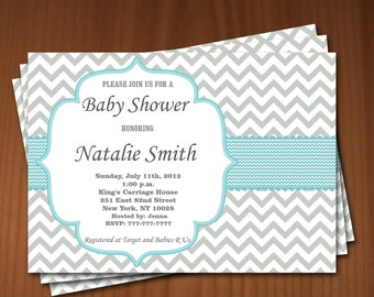 Baby Shower Invitation Boy Baby Shower invitations Printable Baby Shower Invites -FREE Thank You Card - editable pdf Download (591) blue