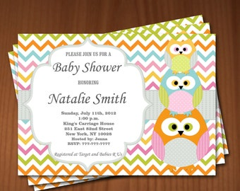 Owl Baby Shower Invitation Boy Baby Shower Invitation Girl Baby Shower Invitation Baby Shower Invites - Free Thank You Card Instant Download