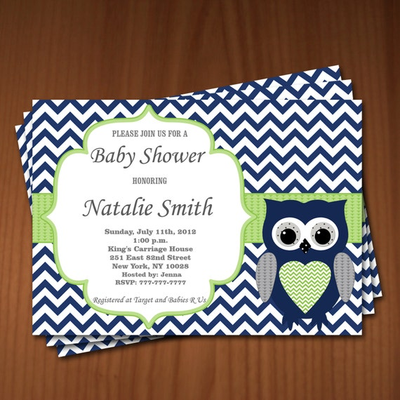 Baby Shower Invitations Wording For Boys: Owl Baby Shower Invitation Boy Baby Shower Invitations