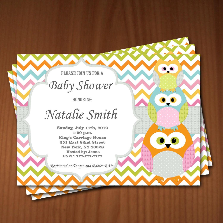 owl baby shower invitation boy baby shower by diymyparty on etsy