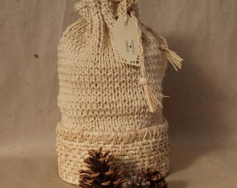 Knitting Coiled Basket Bag / Coiled Basket