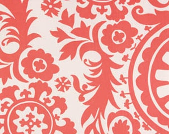 25 inch  Curtains Drapery Panels Coral and White Suzani Print Curtains Premier Prints Window Treatments