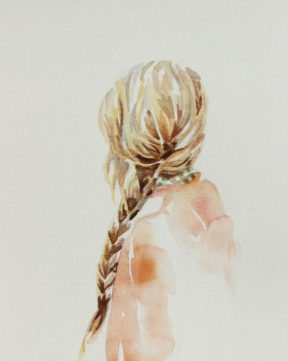 Sunday Giclee Fine Art Print Of Watercolor By Sangtheswallow