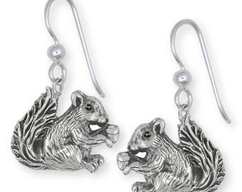 Silver Squirrel Earrings Jewelry -  SQ2-E