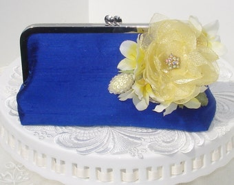 Prom Clutch / Cobalt Blue Brides Clutch  / Something Blue / Wedding Clutch