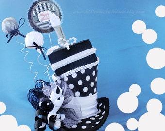 Mini Top Hat , Birthday Mini Top Hat , Mini Hats, Fascinator , Celebration Hat , Mini Cake Hat, Tea Party Hat, Mad Hatter, Retirement Hat