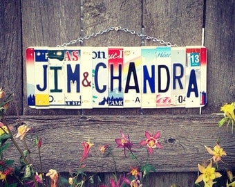 Valentines day. Wedding.couple. License plate sign. License plate. Custom .name. Wall hanging. Love. Engagement. Bride. Groom. Wedding gift