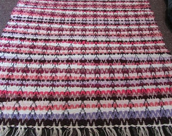 Woven Magenta, Pinks, and Purples Rug