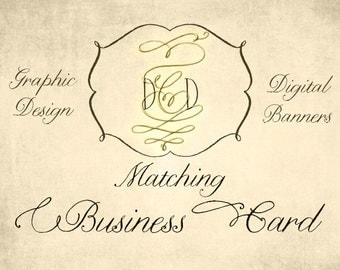 Made to Match Business Cards Graphic Design with your Business Shop