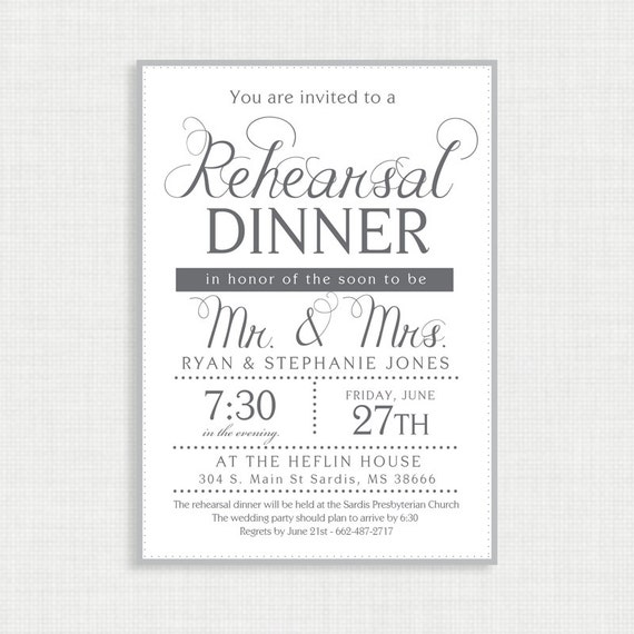 Rehearsal invitation- Simple Rehearsal Invitation- Invitation Template- Customizable Invitation