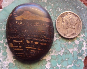 Indian Paint Stone Freeform Oval Cabochon 53.5 cts