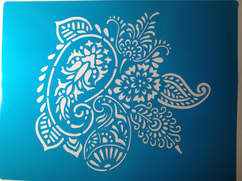 Mehndi Cake Stencil : Henna mehendi cake stencil topper by stenciland on etsy