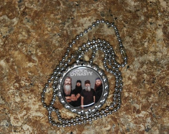 """Duck  Dynasty Bottle Cap Nacklace """"The Four Guys"""""""