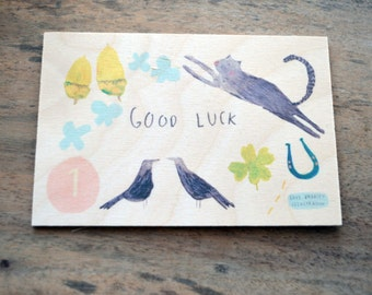 Good Luck Timbergram by Faye Bradley