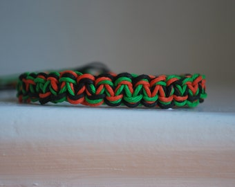 Halloween Inspired Colored Hemp Bracelet