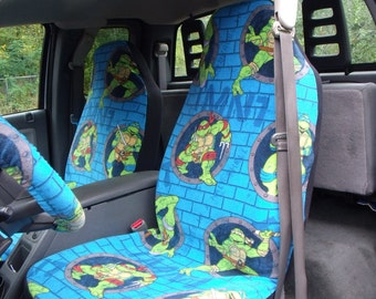1 Set of Southwest Tribal Print Seat Covers and Steering