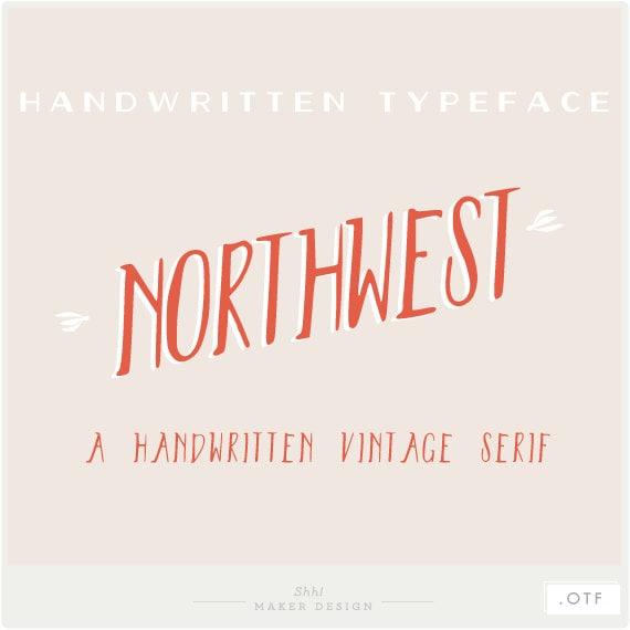 Northwest - A Handwritten Vintage Serif - Font