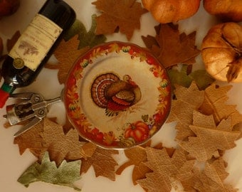 Thanksgiving Turkey Plate for Dollhouse.